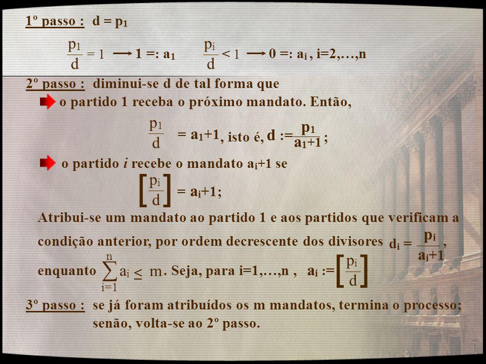 [ ] [ ] ∑ p1 d pi p1 d a1+1 d := pi d pi ai+1 m ai pi d ai :=